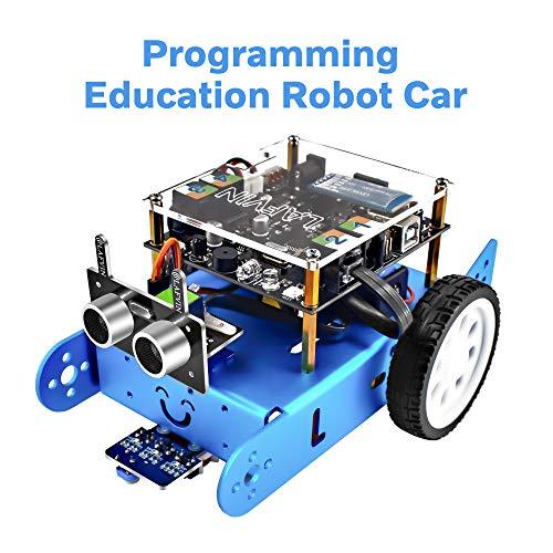 LAFVIN Ibot Programmable Education Robot Car Kit STEM Education,Entry-Level Programming,DIY Mechanical Building Blocks Robot Compatible with Arduino IDE