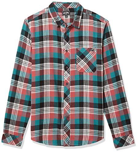Billabong Herren Freemont Flannel Button Down Hemd, Rosenstaub, Mittel