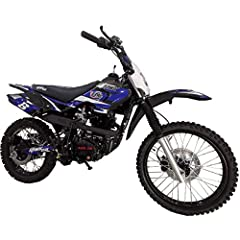 "150cc Dirtbike brought by Moto Pro. Comes with 149cc 4-Stroke Engine that has a 55 MPH speed capability. The 4-Stroke engine ensures that no confusing fluid mixing will be required, just gas it up and start riding! 19"" Front and 16"" Rear big Tires ar..."