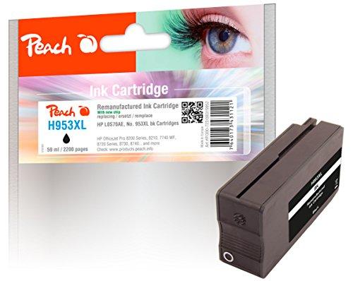 Peach Tintenpatrone schwarz HC kompatibel zu HP No. 953XL, L0S70AE
