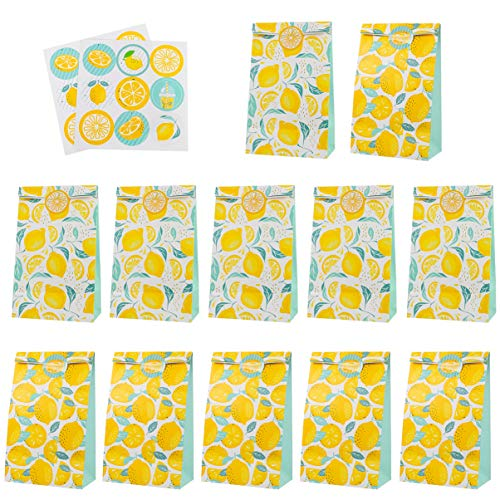 Tomaibaby Papieren Snoepzak Cadeauzakje Bakkerijzakken Papieren Boterhamzakjes Met Verzegelingssticker Voor Bruiloft Verjaardagsfeestje Koekjesbenodigdheden (Diverse Kleuren)