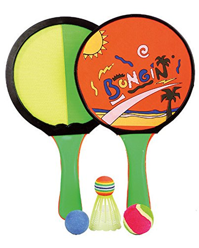 Haberkorn 3 in 1 Klettball Badminton Beach Ball Spiel 2 Schläger 3 Bälle