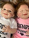 Zero Pam Lebensechte wiedergeborene Babypuppen Zwillinge Jungen und Mädchen 55 cm, gewichteter...