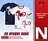 NEENAH 3G JET-OPAQUE HEAT TRANSFER PAPER 8.5'X11' CUSTOM PACK 50 SHEETS