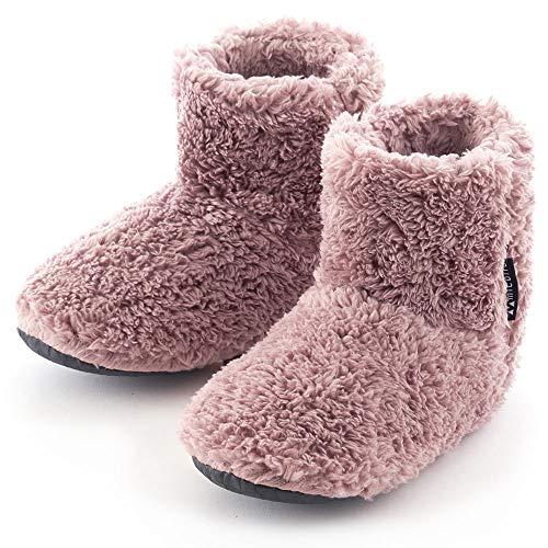 ミコラ正規品 全8色【2020冬 北欧 あったか もこもこルームシューズ 【Lサイズ ~26.0cm】M,XLサイズもあります 寒い台所でもホカホカ暖かい 足首まですっぽり 冬用 防寒 ボアブーツ スリッパ【ピンク】