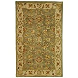 Safavieh Antiquities Collection AT313A Handmade Traditional Oriental Green and Gold Wool Area Rug (2' x 3')