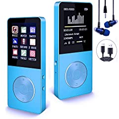 HIFI-CLASS MUSIC PLAYER: Support most popular audio formats: MP3, WMA, OGG, WAV, APE, FLAC, and ACELP, with HD Reet earbuds. METAL BODY WITH BEAUTIFUL APPEREANCE:High strength/shocking and crushing resistance, Durable and oustanding touch feeling, Sp...
