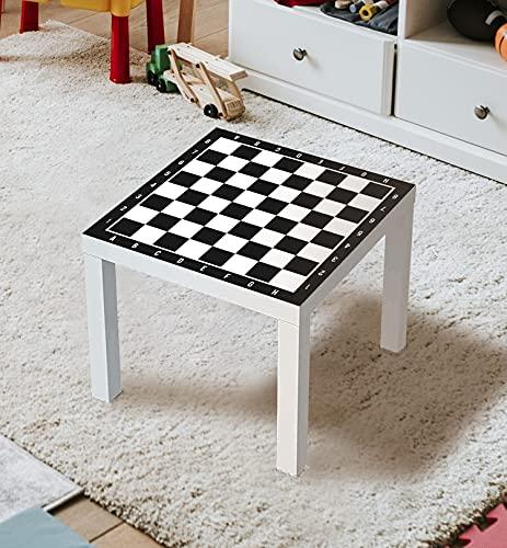 MyMaxxi | MyMaxxi | Aufklebefolie Möbelfolie Schach 01 Spielfolie für IKEA Lacktisch 55 x 55 cm Stadtleben Aufkleber Sticker Tischfolie Spieltisch Brettspiele Gesellschaftsspiele