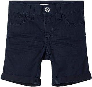 NAME IT Nmmsofus Twiisak Long Short Camp Pantalones Cortos para Niños
