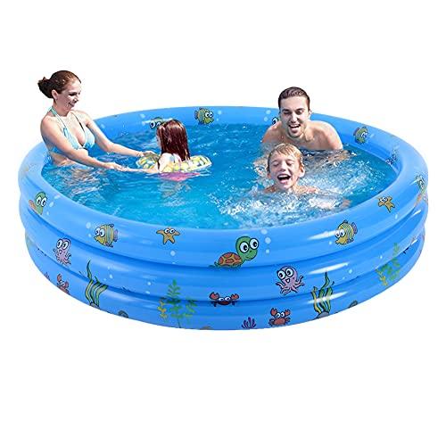 Planschbecken Aufblasbarer Pool Baby aufblasbare Badewanne Rund für Kinder Verdickter PVC Kinderpool Planschbecken Swimmingpool