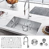 30 Inch Undermount Kitchen Sink, 30'' x 18'' x 9''...