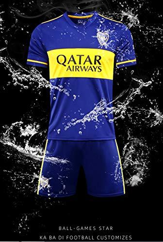 SYGEZJ 2020 Camiseta de fútbol Boca Juniors, 21/10/24/32 Adulto para niños Boca Jersey -Azul (M, Adult)