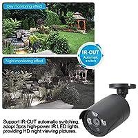 モニターカメラ、IPカメラ、屋内屋外用アンテナホームセーフティシステム付き移動検知ワイヤレス1080P(black, U.S. regulations, Transl)
