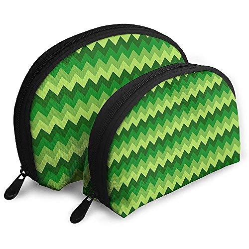 Chevron Style Pattern Geometrici vivaci colorati Borse portatili Borsa per il trucco Borsa da toilette Borse da viaggio portatili multifunzione