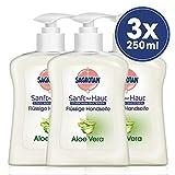 Sagrotan Handseife mit frischem Duft nach Aloe Vera – Antibakterielle Flüssigseife – 3 x 250 ml...