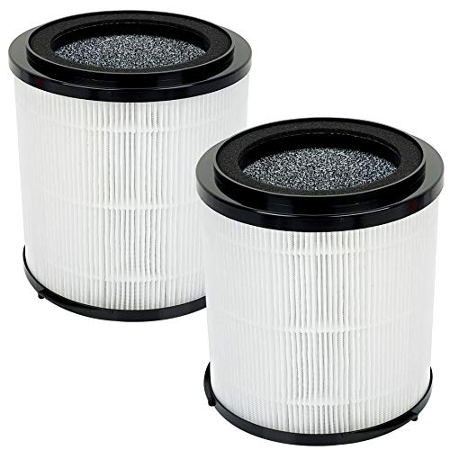 Flintar All-in-1 H13 Premium True HEPA Replacement Filter, Compatible with SilverOnyx 5-Speed Air Purifier, Captures Airborne Allergens and Neutralizes Odors, 2 - Pack (2)