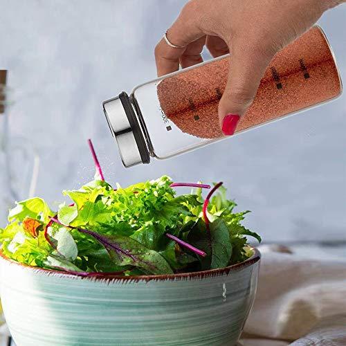 塩・コショウ入れ 調味料入れ/砂糖入れ/収納用 スパイス/飲食店/スライド式開閉 量を調節できる キッチン用品 (300ML×1)