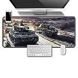 JXSFRH Alfombrilla de ratón para Juegos Tanque de la estepa del Desierto Alfombrilla de ratón 260x210x2mm Base de Goma Antideslizante, Superficie Impermeable Adecuada para Jugadores, PC y portátil