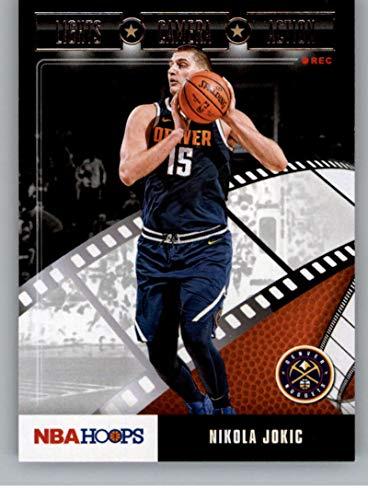 2019-20 Panini Hoops Lights Camera Action #28 Nikola Jokic Denver Nuggets NBA Basketball Trading Card