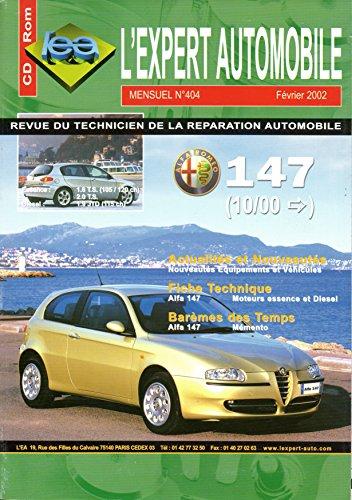 REVUE TECHNIQUE L'EXPERT AUTOMOBILE N° 404 ALFA ROMEO 147 ESSENCE 1.6 ET 2.0 TWIN SPARK ET DIESEL 1.9 JTD 115 CH DEPUIS 10/2000
