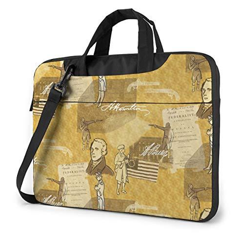 EYFlife Alexander Hamilton Lightweight Computer PC Sleeve Case 13-15 in Laptop Bag