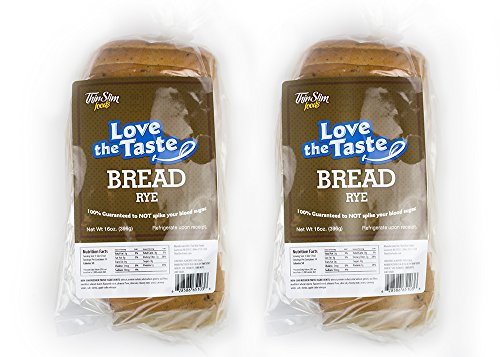 ThinSlim Foods Keto Low Carb Bread - Rye Bread, 2 Pack (14 Slices Each)
