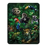 3D LiveLife Magnet - Jungle Pals from Deluxebase. Lenticular 3D Wild Animal Fridge Magnet. Magnetic decor for kids and adults with artwork licensed from renowned artist, Tami Alba