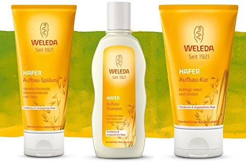 Weleda Hafer Aufbau Spülung 200 ml + Shampoo 190 ml + Kur 150 ml im Set