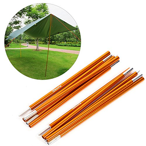 Yosoo Outdoor Tent Pole Rod,2 PCS Aluminium Alloy Tent Bar Rod Pole Tent Accessories Tent Building Supporting Rod Pole Awning Frames Kit for Hiking Camping (6mm2000mm(Style?))