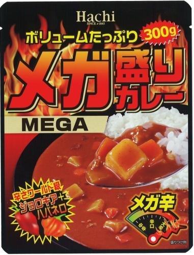 Hachi ハチ食品 ボリュームたっぷり メガ盛りカレー メガ辛 辛さワールド級 300g