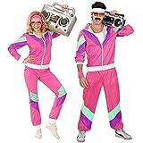 Widmann 98804 - Kostüm 80er Jahre Trainingsanzug, Jacke und Hose, angenehmer Tragekomfort, Assi Anzug, Proll Anzug, Retro Style, Bad Taste Party, 80ties, Karneval
