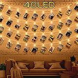 40 LED Fotoklammer Lampenstränge zur Raumdekoration Wohnzimmer-Lichterketten Lichterketten Bilder Lichterketten Deko Halterung Wohnung Modern