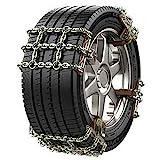 WYJW La Catena da Neve per Pneumatici per Automobili è Adatta per la Catena di Emergenza da Neve per Pneumatici Mercedes-Benz Classe C 225/50R17 225/45R18, Classe C, 225/50R17