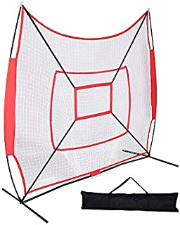 TimmyHouse Baseball Softball Practice Hitting Batting Pitching Training Net Bow Frame W/Bag
