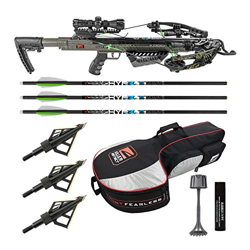 Killer Instinct Boss 405 FPS Crossbow Package with Backpack Case and Broadheads Bundle