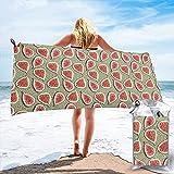 Toalla de Playa de Microfibra de Frutas de higos, Toalla súper Absorbente de Secado rápido, portátil para Llevar, para Gimnasio, natación, Yoga y Camping