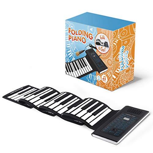Roll Up Piano Folding Portable Keyboard | 61Keys | Music Gifts for Women Men Girl Boys Kids | Educational Toys Gift Set | Digital Beginner Piano