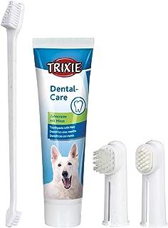 TRIXIE Set Higiene Dental, Pasta y cepillos dedos, Perro
