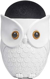MASiKEN Table Stand Compatibility for Echo Dot 4(Owl Style), Sturdy Non-Slip Disc Desktop Holder, Speaker Holder, Universa...