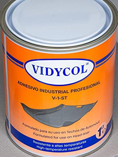Pegamento resistente alta temperatura para tapicería y TECHO COCHE. Lata de 1L. Cola resistente para aplicar con brocha, super adhesivo y extra fuerte.