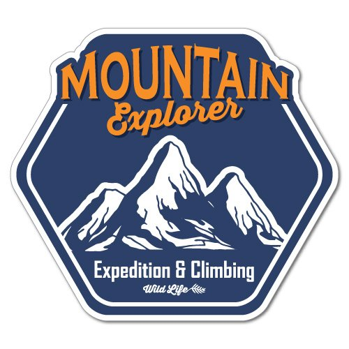 Mountain Explorer Climbing Outdoor Adventure Sticker Decal Surfboard Vintage Skate Surf