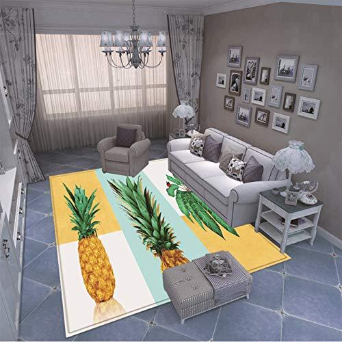 MMHJS Alfombra De Patrón De Efecto Realista 3D De Estilo Europeo Alfombra De Entrada Antideslizante Engrosada Adecuado para Alfombras En Baños, Cocinas Y Dormitorios Fruta De Dibujos Animados