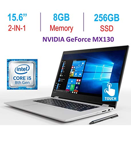 Lenovo Flex 5 15.6'' 2-in-1 Touchscreen FHD (1920x1080) Laptop PC, 8th Gen Intel Core i5-8250u 1.6GHz Processor, 8GB DDR4, 256GB SSD, Fingerprint Reader, GeForce MX130, Active Stylus, Windows 10