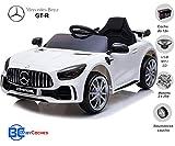BC BABY COCHES Coche eléctrico para niños Mercedes GT-R con Ruedas Caucho, BATERÍA 12v, Mando Control Remoto(Blanco)