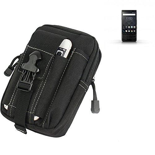 K-S-Trade Gürtel Tasche Für BlackBerry KEYone Black Edition Gürteltasche Holster Schutzhülle Handy Hülle Smartphone Outdoor Handyhülle Schwarz Zusatzfächer