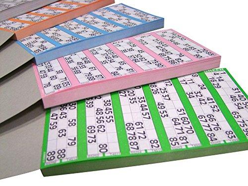 CARTONES DE Bingo DE Papel para TACHAR