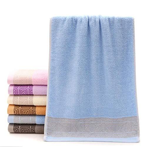 WSS Shoes Toalla de baño de algodón gruesa toalla absorbente 34 x 76 cm gris (color: azul cielo)
