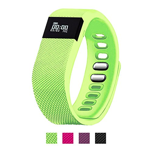 EiffelT Fitness Tracker, Pedometer Sport Activity Tracker Sleep Monitor Calorie Counter for Android and iOS Smart Phone (Green)