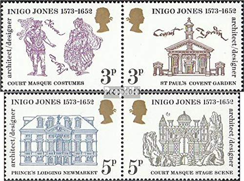 Prophila Collection Großbritannien 628-631 (kompl.Ausg.) Paare 1973 400. Geburtstag Inigo Jones (Briefmarken für Sammler)