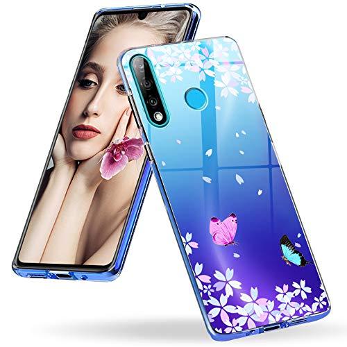 Liquid Crystal Clear Kompatibel für Huawei P30 Lite Hülle Marmor TPU Silikon Handyhülle Transparent Durchsichtig Schutzhülle Ultra Dünn Slim mit Muster Case für Huawei P30 Lite /P30 Lite New Edition